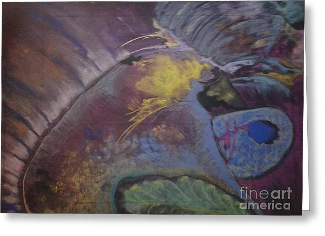Caves Pastels Greeting Cards - Cave Drawing Greeting Card by Thomas Petrizzo
