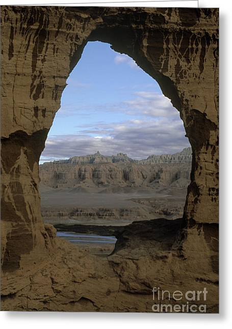 Cave Dwelling Window - Guge Kingdom Tibet Greeting Card by Craig Lovell