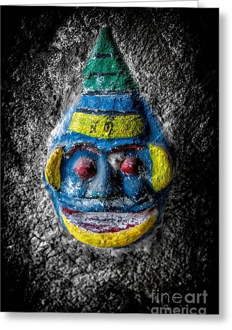 Religious Digital Art Greeting Cards - Cave Face 3 Greeting Card by Adrian Evans