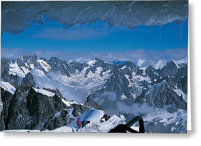 Mountain Greeting Cards - Cave Mt Blanc France Greeting Card by Panoramic Images