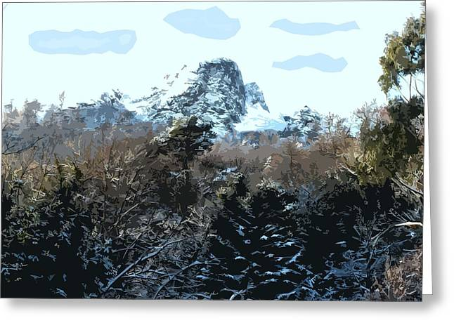 Winter Prints Mixed Media Greeting Cards - Cavehill In The Snow 2 Greeting Card by Patrick J Murphy