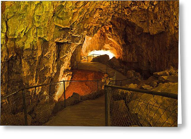 Cavern Aglow Greeting Card by KENAN SIPILOVIC