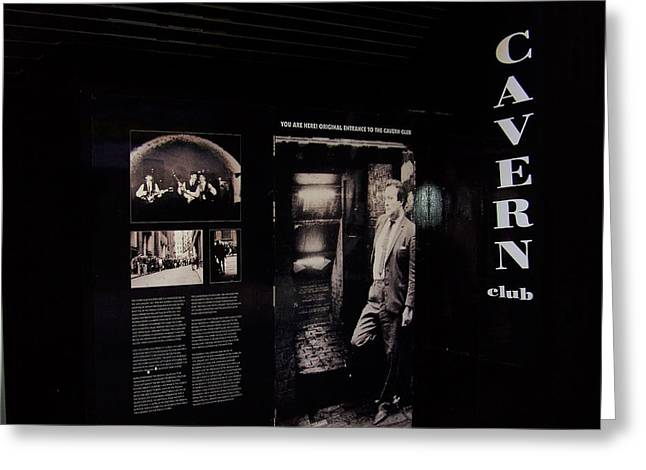 Sgt Pepper Photographs Greeting Cards - Cavern Club original doorway Liverpool UK Greeting Card by Steve Kearns