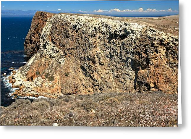 Cavern Greeting Cards - Cavern Point Cliffs Greeting Card by Adam Jewell