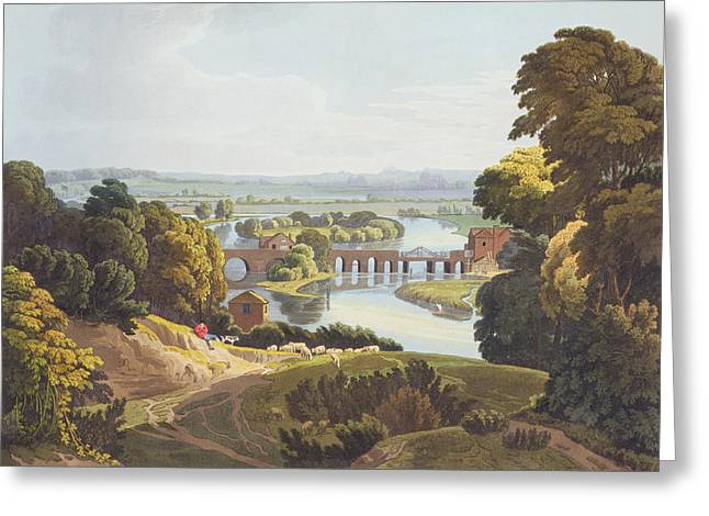 Shepherds Greeting Cards - Caversham Bridge, Near Reading Greeting Card by William Havell