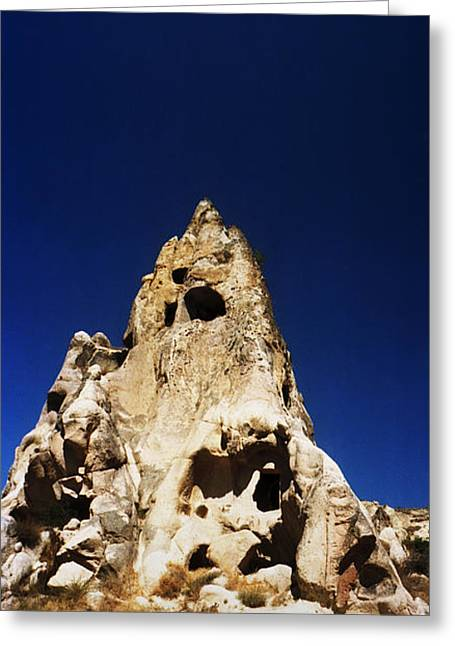 Cliff Dwellings Greeting Cards - Caves And Fairy Chimneys Of Cappadocia Greeting Card by Panoramic Images