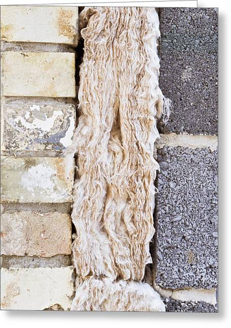 Framework Greeting Cards - Cavity insulation Greeting Card by Tom Gowanlock