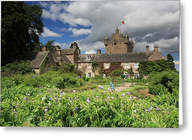 Campbell Clan Greeting Cards - Cawdor Castle and Garden Greeting Card by Maria Gaellman