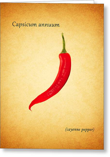 Recipes Greeting Cards - Cayenne Pepper Greeting Card by Mark Rogan