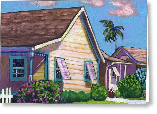 Cayman Abode Greeting Card by Eve  Wheeler