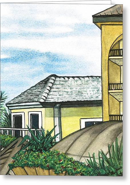Cayman Houses Greeting Cards - Cayman Island Resort Greeting Card by Shara  Wright