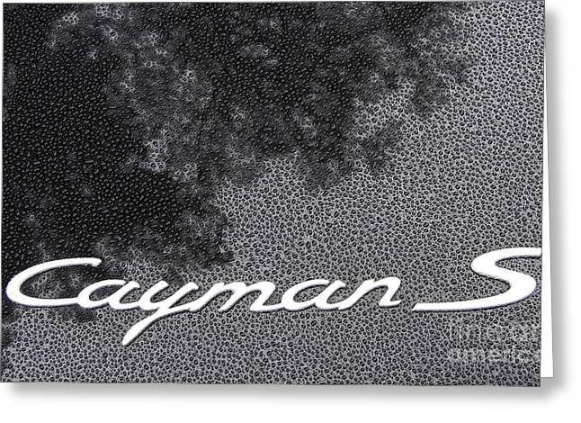 Car Part Greeting Cards - Cayman S Greeting Card by Skip Willits