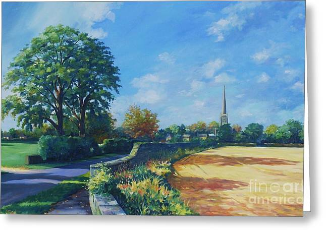 English Landscape Greeting Cards - Caythorpe Greeting Card by John Clark