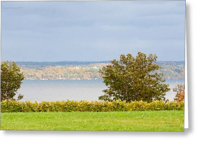 Finger Lakes Greeting Cards - Cayuga Lake 2 Greeting Card by Peter Clemence