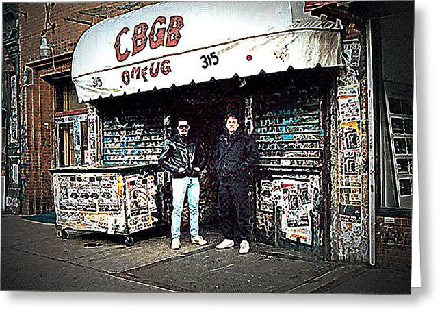 Ramones Greeting Cards - CBGB New York 1992 Greeting Card by Timothy Lowry