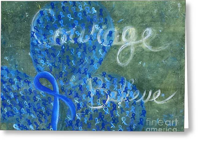 Courage Paintings Greeting Cards - CC Believe Greeting Card by Emily Marie