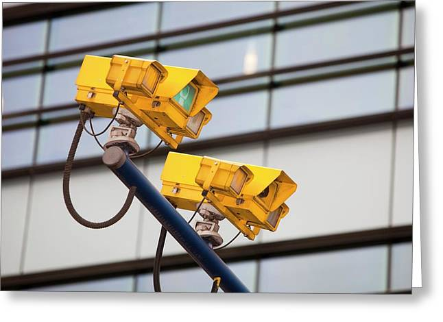 Cctv Cameras For Monitoring Traffic Greeting Card by Ashley Cooper