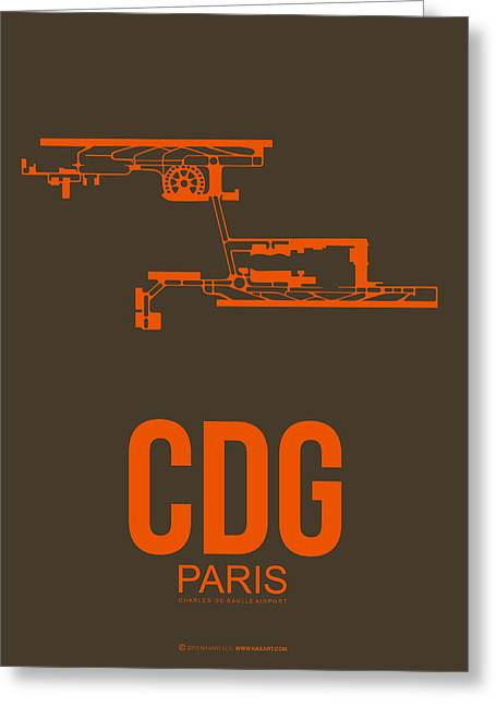 European City Greeting Cards - CDG Paris Airport Poster 3 Greeting Card by Naxart Studio