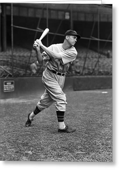 Third Baseman Greeting Cards - Cecil H. Travis Greeting Card by Retro Images Archive