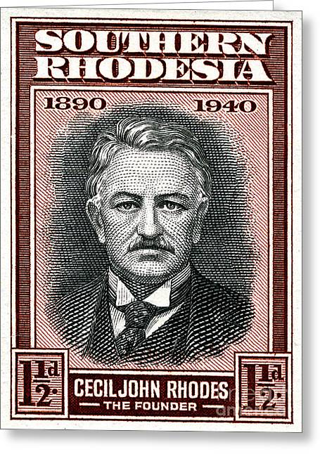 Rhodes Greeting Cards - Cecil John Rhodes - 1.5d Crop Greeting Card by Outpost Imagery