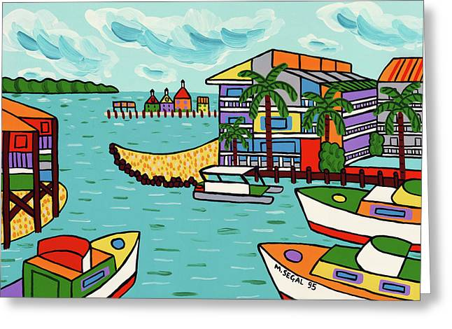 Cedar Cove Marina - Cedar Key Greeting Card by Mike Segal
