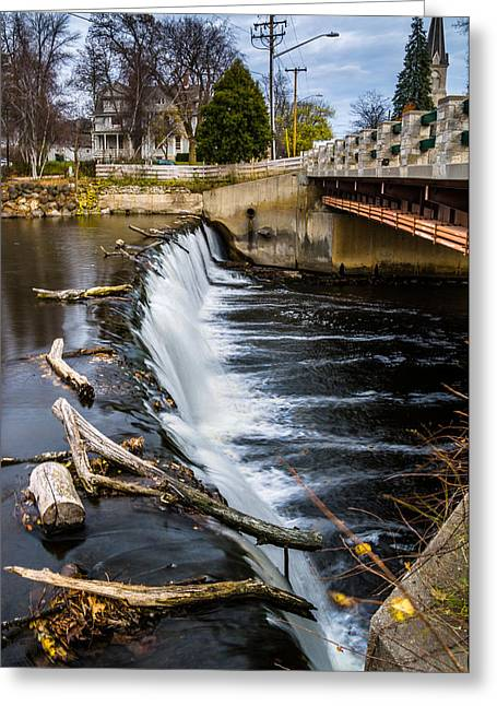 Cedar Creek Greeting Cards - Cedar Creek Dam Greeting Card by Randy Scherkenbach