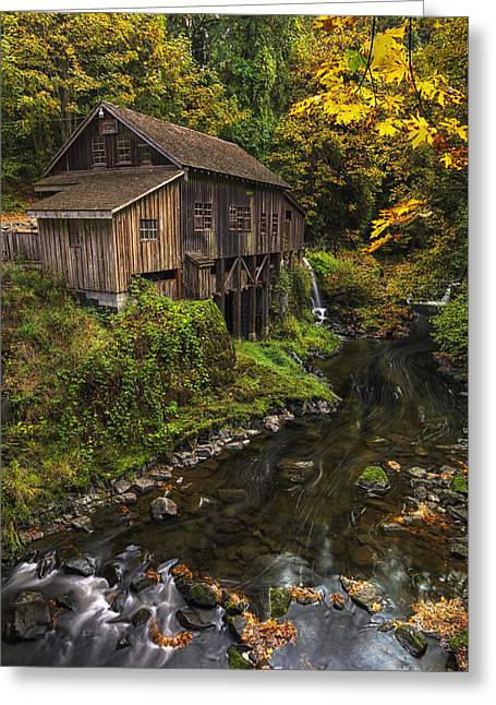 Cedar Creek Greeting Cards - Cedar Creek Grist Mill 2 Greeting Card by Mark Kiver
