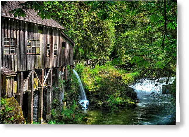 Cedar Creek Greeting Cards - Cedar Creek Grist Mill.  Greeting Card by Lee Gochenour