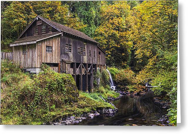 Cedar Creek Greeting Cards - Cedar Creek Grist Mill Greeting Card by Mark Kiver