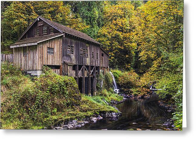 Cedar Creek Grist Mill Greeting Card by Mark Kiver