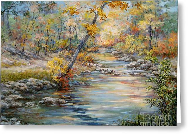 Best Sellers -  - Subtle Colors Greeting Cards - Cedar Creek Trail Greeting Card by Virginia Potter