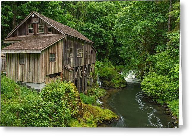 Cedar Creek Greeting Cards - Cedar Grist Mill Greeting Card by Patricia  Davidson