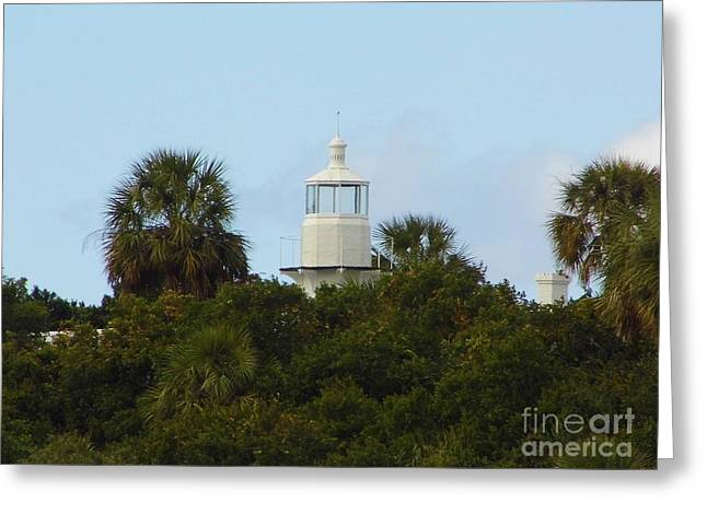 Cedar Key Greeting Cards - Cedar Key Lighthouse Greeting Card by D Hackett