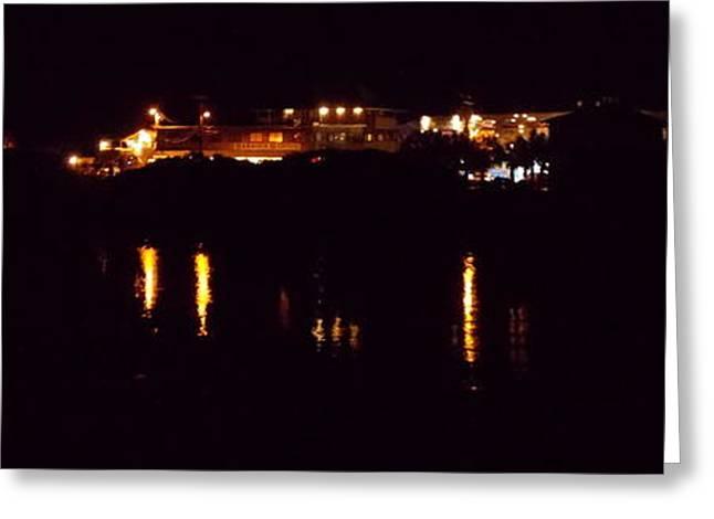 Cedar Key Greeting Cards - Cedar Key Marina Night 1 Greeting Card by Sheri McLeroy