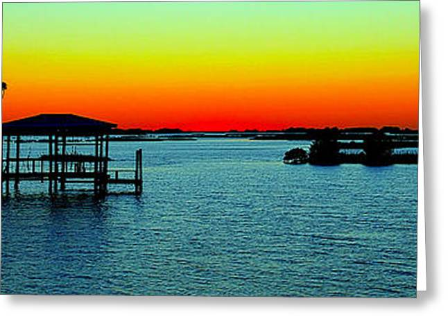 Cedar Key Greeting Cards - Cedar Key Sunset Greeting Card by Jeff Wright
