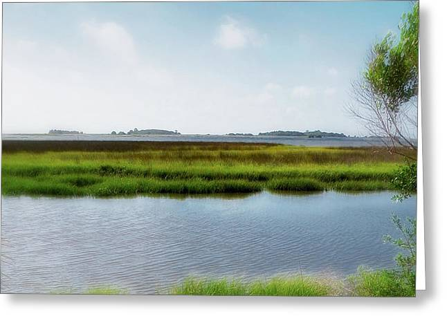 Cedar Key Greeting Cards - Cedar Key View from Nr.4 Bridge Greeting Card by Rory Brennan