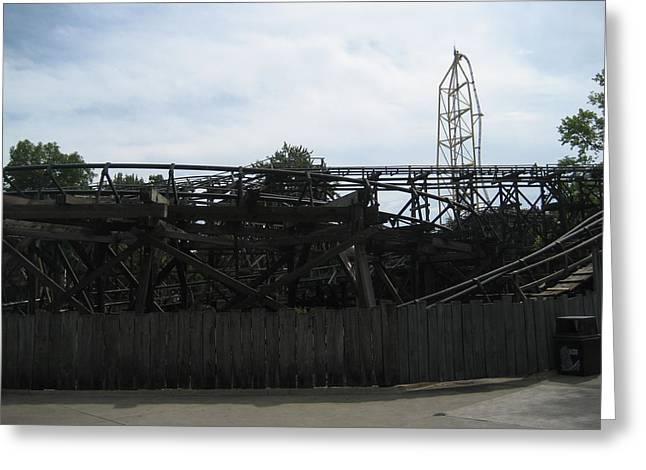 Screaming Greeting Cards - Cedar Point - Cedar Creek Mine Ride - 12121 Greeting Card by DC Photographer