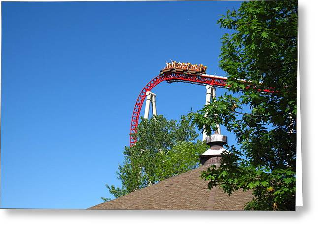 Iron Greeting Cards - Cedar Point - Iron Dragon - 12122 Greeting Card by DC Photographer