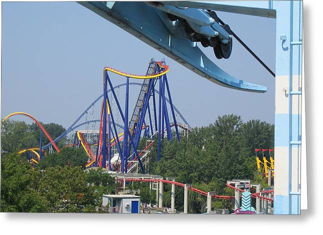 Mantis Greeting Cards - Cedar Point - Mantis - 121211 Greeting Card by DC Photographer