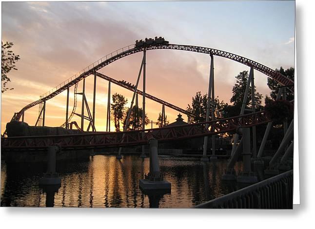 Maverick Greeting Cards - Cedar Point - Maverick - 12121 Greeting Card by DC Photographer