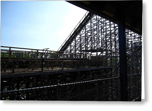 Mean Greeting Cards - Cedar Point - Mean Streak - 12121 Greeting Card by DC Photographer