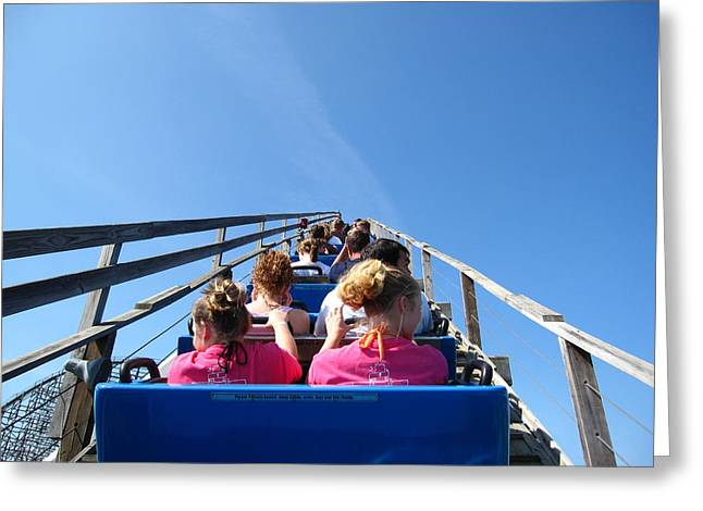 Mean Greeting Cards - Cedar Point - Mean Streak - 12122 Greeting Card by DC Photographer