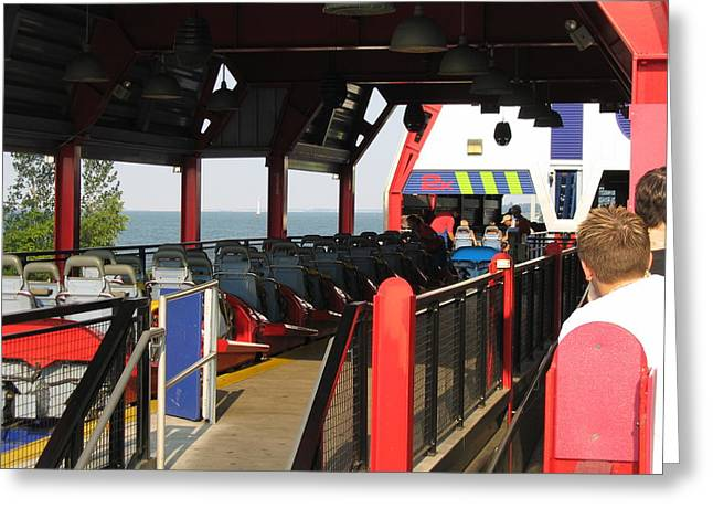 Force Greeting Cards - Cedar Point - Millennium Force - 12125 Greeting Card by DC Photographer