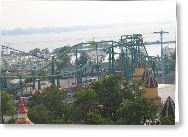 Cedar Point - Raptor - 121210 Greeting Card by DC Photographer