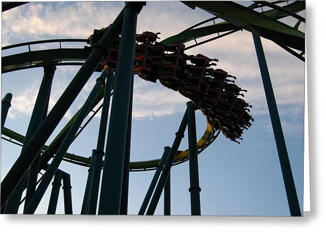 Screaming Greeting Cards - Cedar Point - Raptor - 12122 Greeting Card by DC Photographer