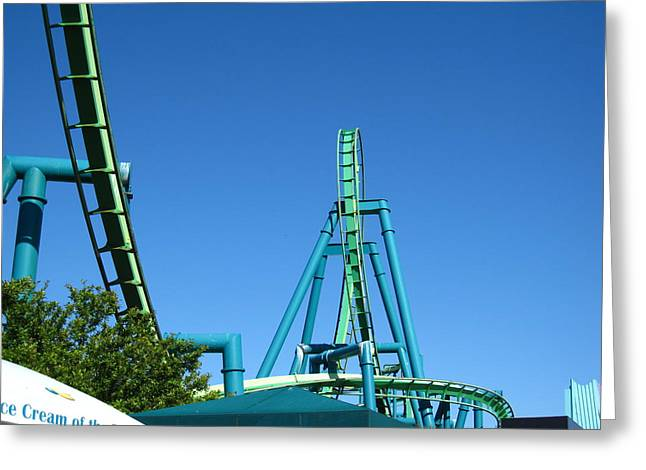 Point Greeting Cards - Cedar Point - Raptor - 12124 Greeting Card by DC Photographer