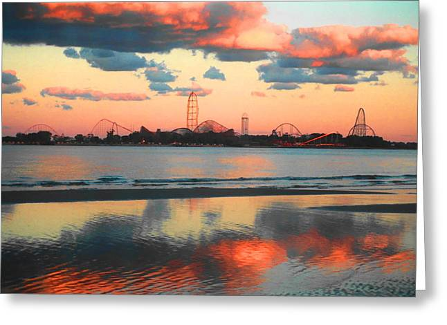 Cedar Point Greeting Card by Sarah Kasper