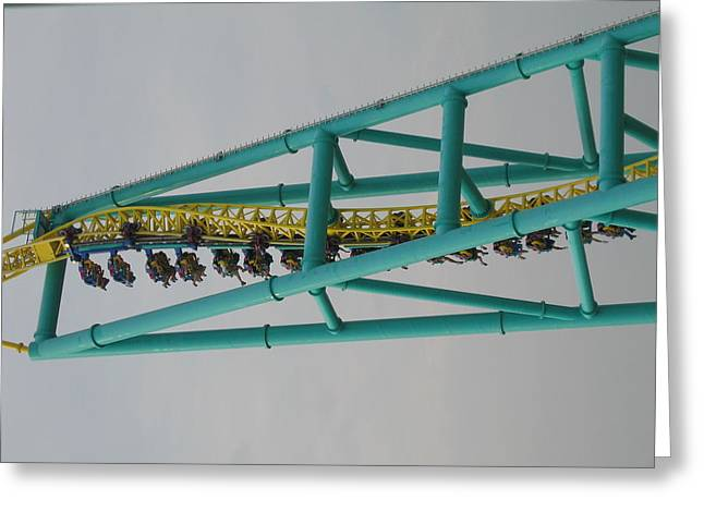Point Greeting Cards - Cedar Point - Wicked Twister - 12125 Greeting Card by DC Photographer