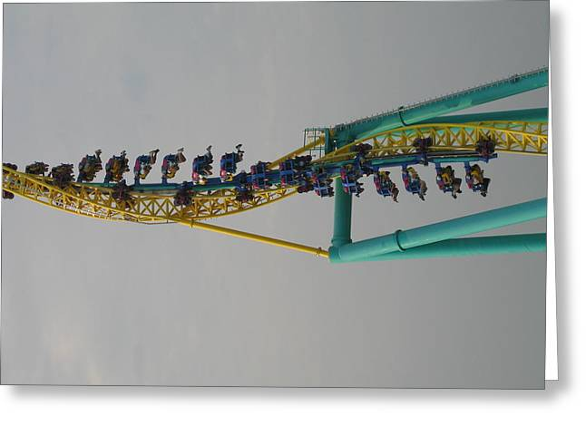 Ohio Photographs Greeting Cards - Cedar Point - Wicked Twister - 12129 Greeting Card by DC Photographer