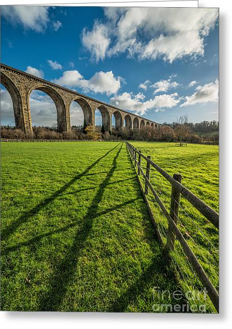 Brassey Greeting Cards - Cefn Viaduct Chirk Greeting Card by Adrian Evans